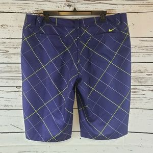 Nike Womens Modern Rise Plaid Golf Shorts
